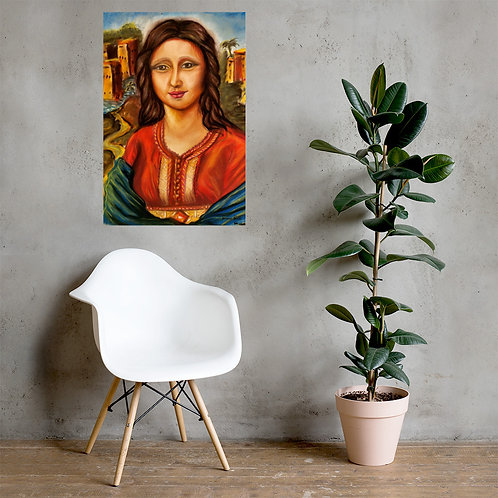 """Affiche musée """" Mouna Louisa """""""