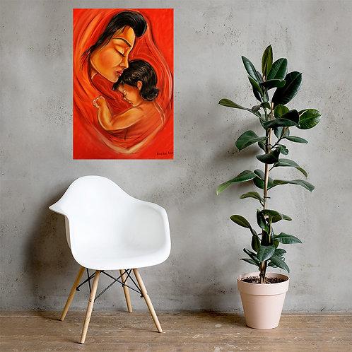 """Affiche musée """" La mère et l'enfant """""""