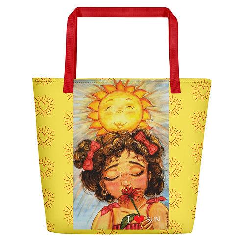 """Grand sac """" I love Sun """""""