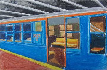 Blue Subway Car.JPG