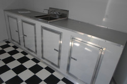 White Checkerboard with Sink