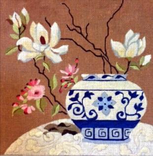 Melissa Prince Blue/White Porcelain Jar
