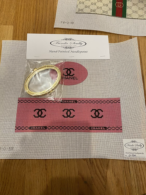 Chanel Limoges box pink and black