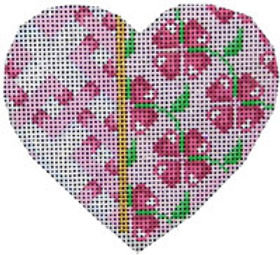 AT HE816 Pink Fretwork/Floral Heart