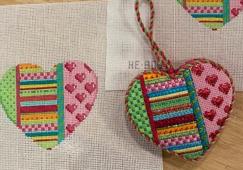 AT HE803 Dots/Stripes/Hearts  Heart