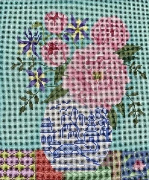 Brenda Stofft Pink flowers 13 mesh