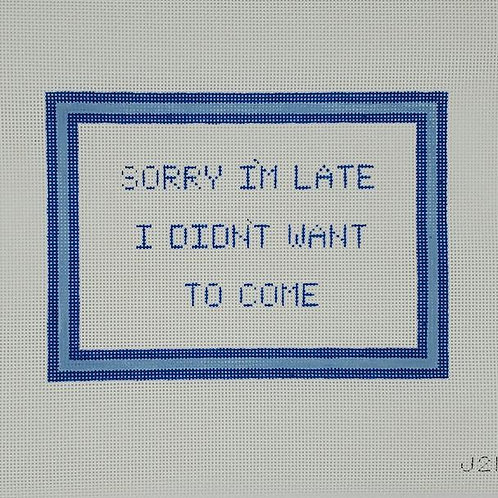 Silver Stitch Sorry I'm Late....