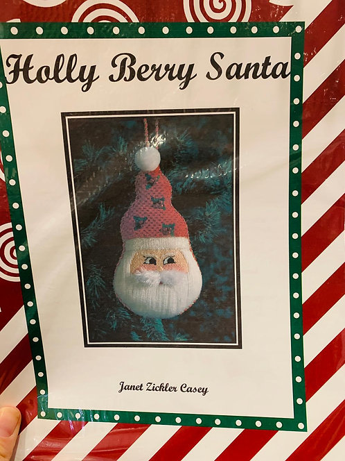 Holly Berry Santa with Stitch Guide
