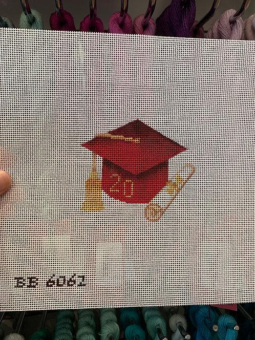 BB6062 Red Graduation Cap