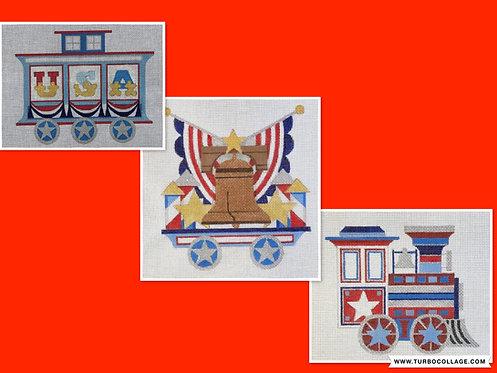 Raymond Crawford Patriotic Train - Complete Set