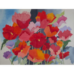 AP1708 Large Watercolor Poppies