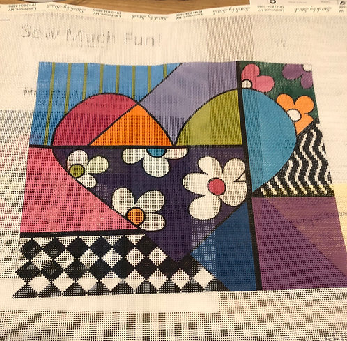 Sew Much Fun heart with guide