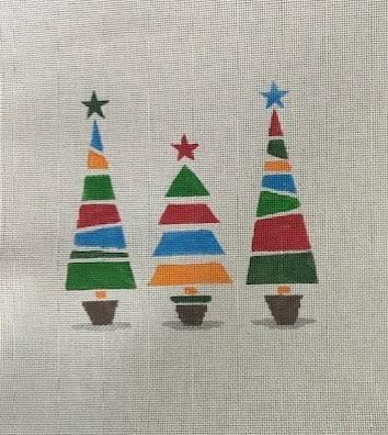 PP1025 Christmas Trees 18 mesh