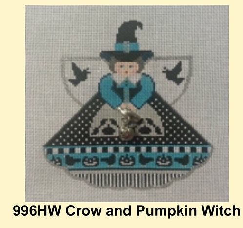 Painted Pony 996HW Crow and Pumpkin Witch