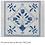 Thumbnail: Plum Designs TSG34-B Blue/White Fleur de lys 13 mesh