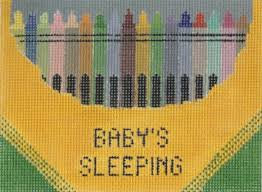 Winnetka Stitchery Baby Sleeping Crayons