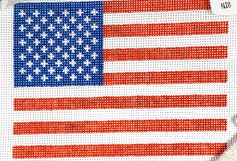 Needlepoint by Laura American Flag
