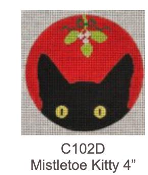 Eye Candy C102D Mistletoe Kitty Ornament