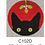 Thumbnail: Eye Candy C102D Mistletoe Kitty Ornament