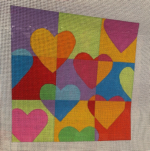 Eye Candy Floating Hearts H109-13 mesh