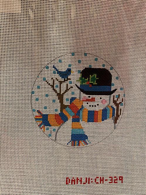 CH 329 Snowman with Bluebird Ornament
