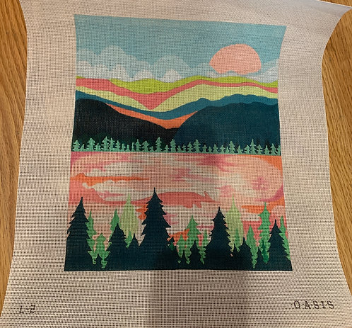 Oasis Needlepoint Pink L-2