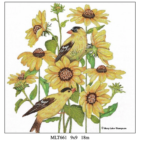 Melissa Shirley MLT 661 Sunflowers and Yellow Birds