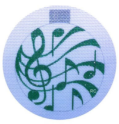 Raymond Crawford HO683 Green Musical Notes Round