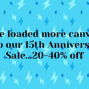 New things added to our 15th Anniversary Sale