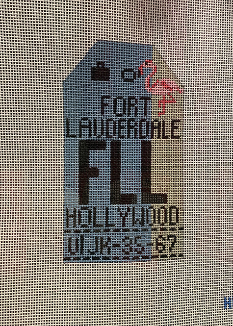 HedgeHog FLL Fort Lauderdale Travel Tag