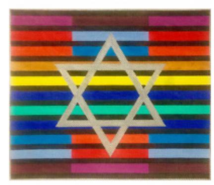 EA121 Multi Colored Stripes with Star Tallis