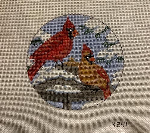 x291 Two Cardinals Ornament