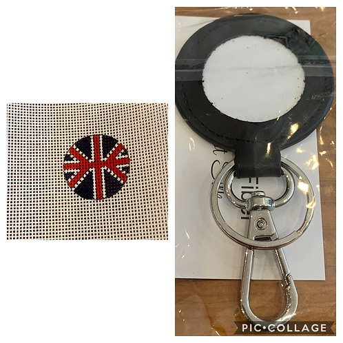 Planet Earth Key Fob and British Flag insert