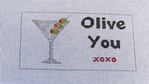 Judy Tasch Needlepoint Olive You