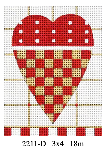Melissa Shirley Small Heart 2211-D Checkerboard