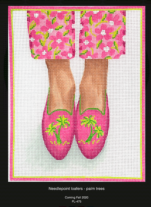 Kate Dickerson PL-475  Palm Tree Loafers