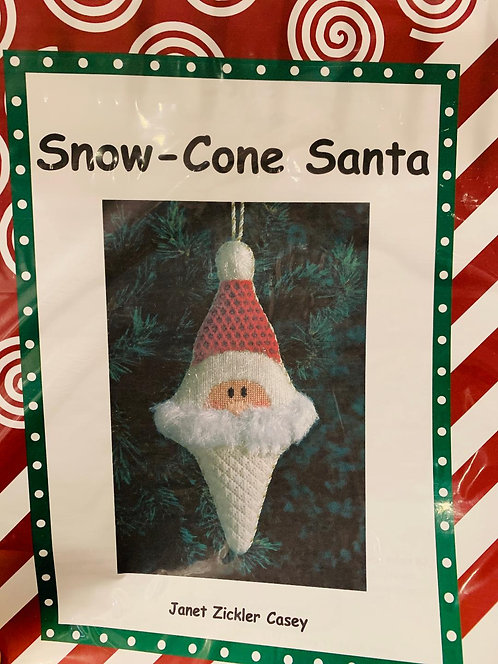 Snow Cone Santa with Stitch Guide