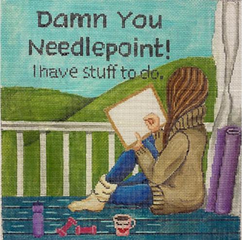 GEP 342 Damn You Needlepoint