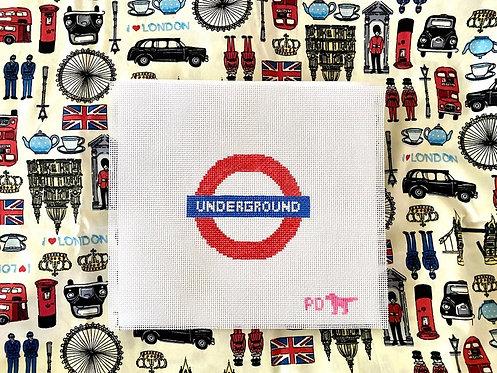 Poppy's Needlepoint Underground Sign