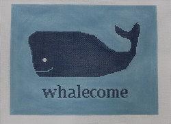 Kristine Kingston P117B Whalecome on Blue