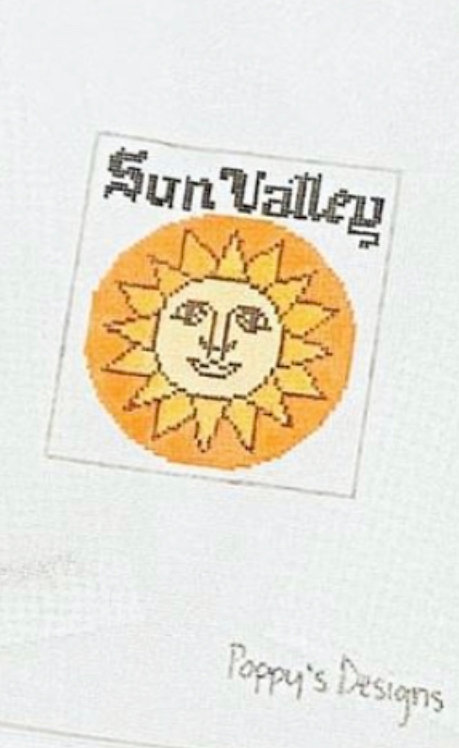 Poppys Needlepoint Vintage Sun Valley Patch