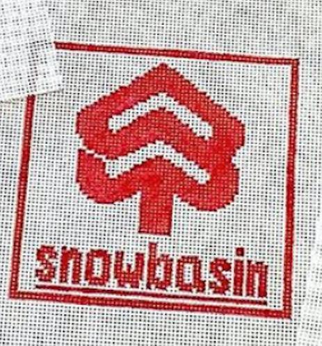 Poppys Needlepoint Vintage Snowbasin Patch