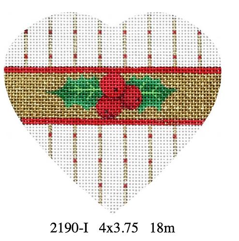 Melissa Shirley 2190 I Holly Heart -Striped