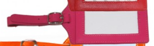 Pink Planet Earth Luggage Tag