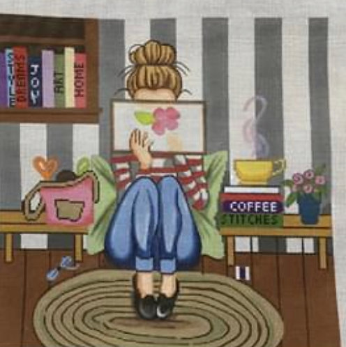 Gayla Elliott  Stitching Girl P274
