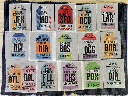 Hedge Hog Retro US Travel Tags- PLEASE SPECIFY WHICH ONE YOU WANT