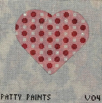 Patty Paints V04 Heart Red and White Dots