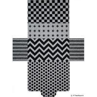 JP Needlepoint Black & White Brick Bag BB-002