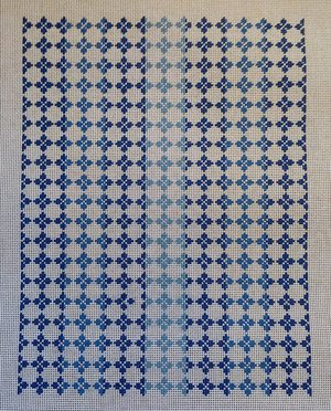 AF45 Blue Medallion Envelope Clutch