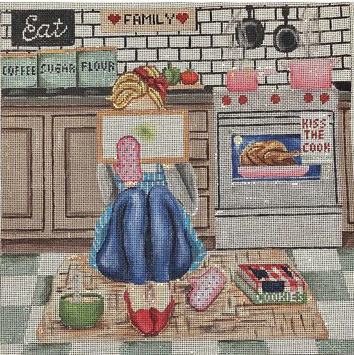 Gayla Elliott  Baking Stitching Girl P305